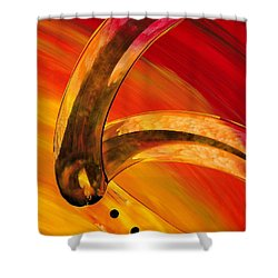Orange Expressions Shower Curtain by Sharon Cummings