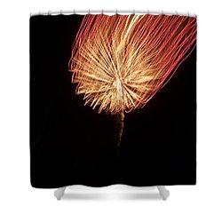 Orange Firework Shower Curtain
