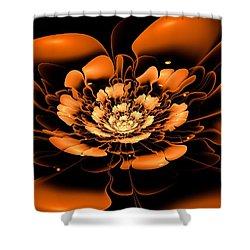 Orange Flower  Shower Curtain by Anastasiya Malakhova