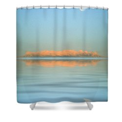 Orange Fog Shower Curtain by Jerry McElroy