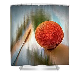 Orange #g4 Shower Curtain