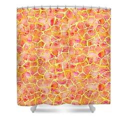Orange Giraffe Print Shower Curtain
