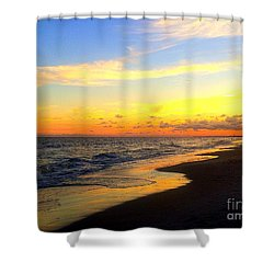Orange Glow Sunset Shower Curtain