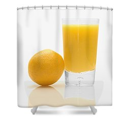 Orange Juice Shower Curtain by Darren Greenwood