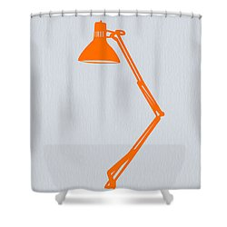 Orange Lamp Shower Curtain