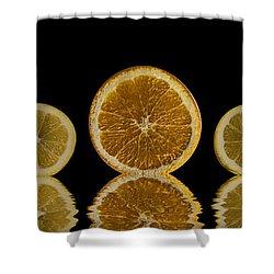 Orange Lemon Reflection Shower Curtain