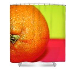 Orange Shower Curtain by Linda Sannuti