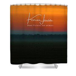 Shower Curtain featuring the photograph Orange Mara Dawn by Karen Lewis