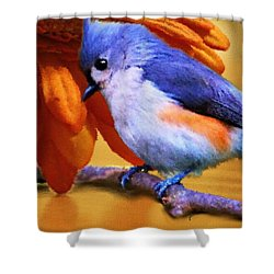 Orange Medley Shower Curtain