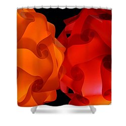 Orange Meets Red Shower Curtain