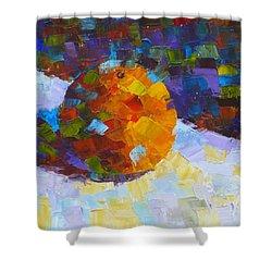 Orange Mosaic #3 Shower Curtain