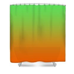 Orange Ombre Shower Curtain