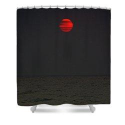 Orange Onyx Sunrise Shower Curtain