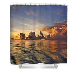 Orange Panorama Shower Curtain