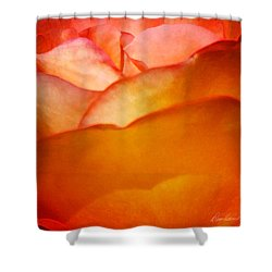 Orange Passion Shower Curtain by Diana Haronis