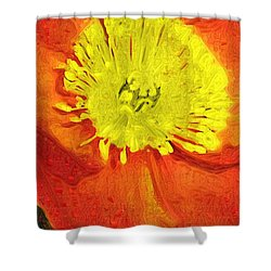Shower Curtain featuring the photograph Orange Poppy by Donna Bentley