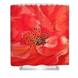 Shower Curtain featuring the painting Orange Rose by Sheron Petrie