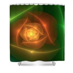 Orange Rose Shower Curtain by Svetlana Nikolova