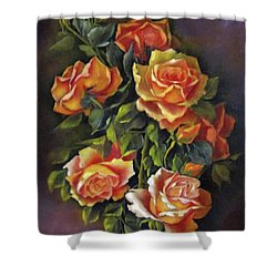 Orange Roses Shower Curtain