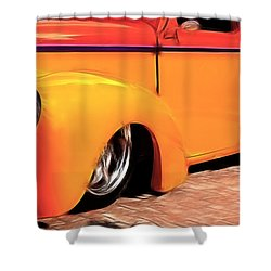Orange Rush - 1941 Willy's Coupe Shower Curtain