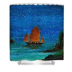Orange Sail Shower Curtain