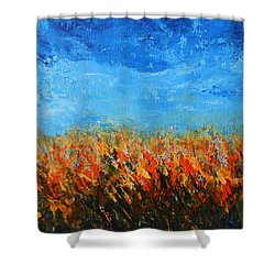 Orange Sensation Shower Curtain by Jane See