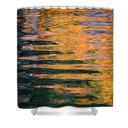 Orange Sherbert Shower Curtain by Donna Blackhall