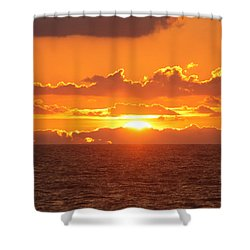 Shower Curtain featuring the photograph Orange Skies At Dawn by Robert Banach