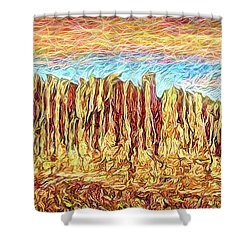 Orange Sky Cliffs - Colorado Shower Curtain