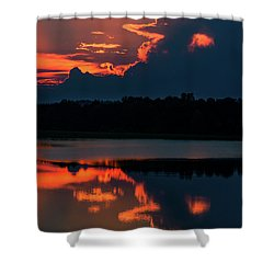 Orange Sky Shower Curtain