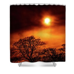 Shower Curtain featuring the photograph Orange Sky by RKAB Works