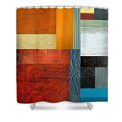 Orange Study With Compliments 1.0 Shower Curtain by Michelle Calkins