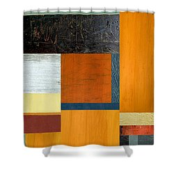 Orange Study With Compliments 2.0 Shower Curtain by Michelle Calkins