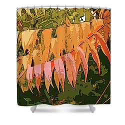 Shower Curtain featuring the photograph Orange Sumac by Betsy Zimmerli
