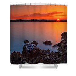 Orange Sunrise Shower Curtain