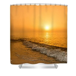 Orange Sunrise Shower Curtain