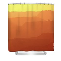 Orange Sunset At Grand Canyon Shower Curtain by RicardMN Photography