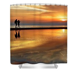 Orange Sunset   Shower Curtain