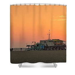 Orange Sunset - Panorama Shower Curtain