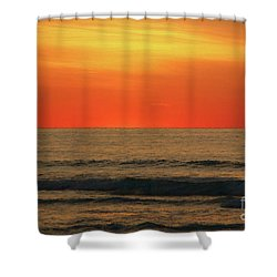 Orange Sunset On The Jersey Shore Shower Curtain