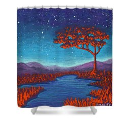 Orange Tree 01 Shower Curtain