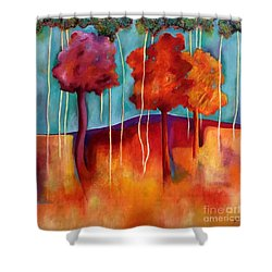 Orange Trees Shower Curtain