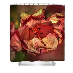 Shower Curtain featuring the photograph Orange Trio #h5 by Leif Sohlman