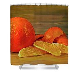 Oranges 01 Shower Curtain by Wally Hampton