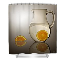 Oranges And Water Pitcher Shower Curtain