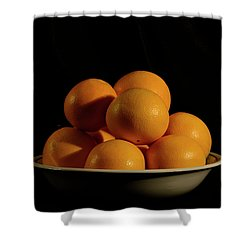 Shower Curtain featuring the photograph Oranges by Angie Tirado