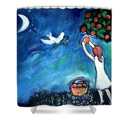 Oranges Song Shower Curtain
