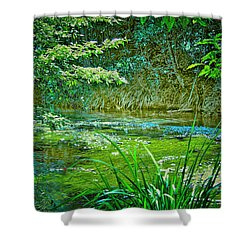 Shower Curtain featuring the photograph Orara River by Wallaroo Images