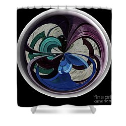Orb Lineup Shower Curtain