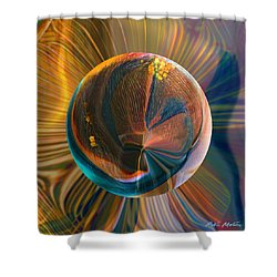 Orbing Good Vibrations Shower Curtain